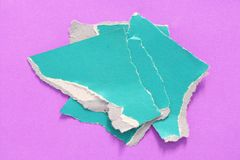 Rip torn paper texture background. Pieces of rip torn paper texture background, copy space Stock Photo