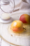 Pieces ripe apple and honey Royalty Free Stock Photo