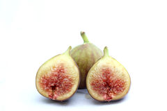 Pieces of ripe fig, macro Stock Images