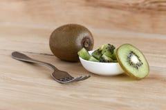 Pieces of a ripe kiwi Royalty Free Stock Image