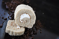 Pieces of Roll Cake Royalty Free Stock Image