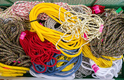 Pieces of rope for sale Royalty Free Stock Photo
