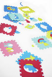 Pieces of rubber foam toys Stock Image