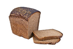Pieces of rye bread Stock Images