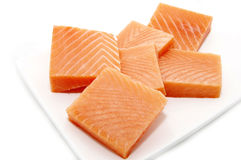Pieces of salmon Royalty Free Stock Photography