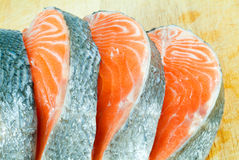 Pieces of a salmon Stock Photography