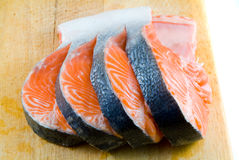 Pieces of a salmon. Stock Image