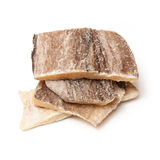 Pieces of salt cod fish Royalty Free Stock Photography