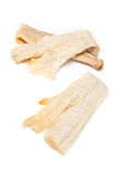 Pieces of salt cod fish Royalty Free Stock Photos