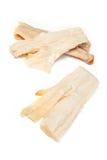 Pieces of salt cod fish Royalty Free Stock Photos