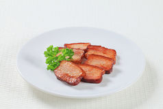 Pieces of salt pork Royalty Free Stock Photography