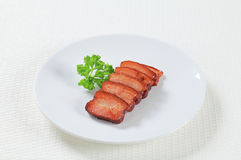 Pieces of salt pork Stock Image