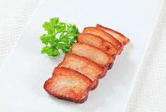 Pieces of salt pork Royalty Free Stock Photos