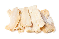 Pieces of salted cod fish  Royalty Free Stock Photo