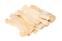 Pieces of salted cod fish  Stock Images