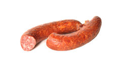 Pieces of sausage Royalty Free Stock Photo