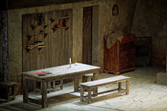 Pieces of scenery in performance  The Cripple from Inishmaan Royalty Free Stock Photos