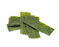 Pieces of seasoned dried seaweed Stock Images