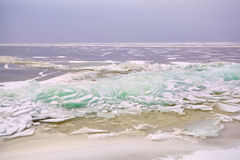 Pieces of shelf ice on North sea Royalty Free Stock Photography