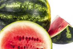 Pieces of sliced watermelon isolated on white background Royalty Free Stock Images