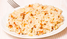 Pieces of smoked squid with rice Royalty Free Stock Images