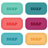 Pieces of soap vector illustration