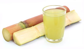 Pieces of sugarcane juice Stock Photos