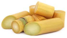 Pieces of sugarcane Royalty Free Stock Photography
