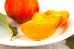 Pieces sweet rich bright peach Stock Photos