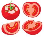 pieces tomaten Arkivbilder