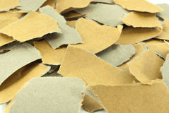 Pieces of torn brown paper. Royalty Free Stock Photo