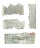 Pieces of torn paper royalty free stock photos