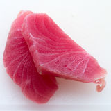 Pieces of tuna fillet Royalty Free Stock Images