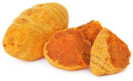 Pieces of turmeric Royalty Free Stock Photo