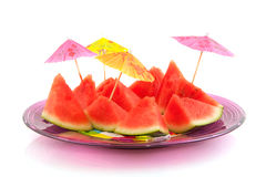 Pieces water melon Stock Photos