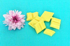 Pieces of white chocolate Stock Image
