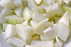 Pieces of white onions Stock Photo
