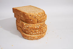 Pieces of Whole-wheat Bread Royalty Free Stock Images