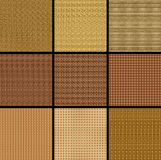 Wicker background. 9 pieces of wicker background Royalty Free Stock Photography