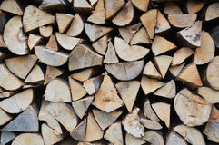 Pieces of wood. Chopped pieces of pine tree Stock Photo