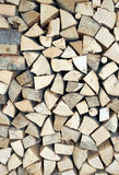 Pieces of wood for ecological heating Royalty Free Stock Images