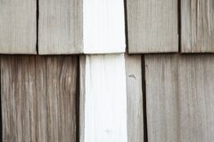 Pieces of wooden plank wall for texture background with white line. Pieces of wooden plank wall texture background with white line stock photography