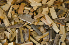 Pieces of woods. Cutted pieces of fire woods Stock Photo