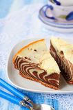 Pieces of Zebra Cake Royalty Free Stock Image