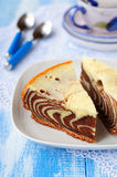 Pieces of Zebra Cake Royalty Free Stock Photos