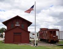 Piechur linii kolejowej zajezdnia Fotografia Stock