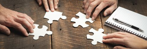 Piecing It Together stock photos