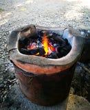 Piecowy węgiel drzewny Fotografia Royalty Free