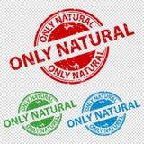 Pieczątki foki Tylko Naturalny Odizolowywający Na Przejrzystym tle - Wektorowa ilustracja - royalty ilustracja