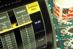 pieczęci pocztowej skalę opłat Obraz Stock